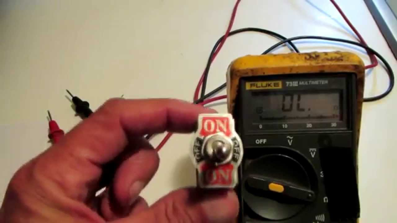 Use A Multimeter To Check A Switch YouTube