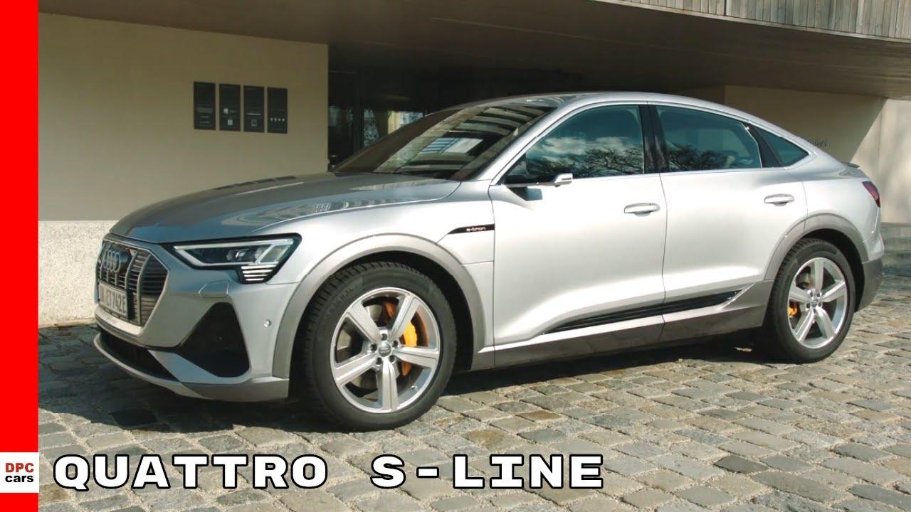 New 2021 Audi E Tron Sportback 55 Quattro S Line Floret Silver Youtube Audi e tron 55 quattro s line