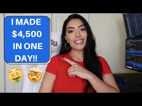 I MADE $4,500 IN ONE DAY TRADING OPTIONS!