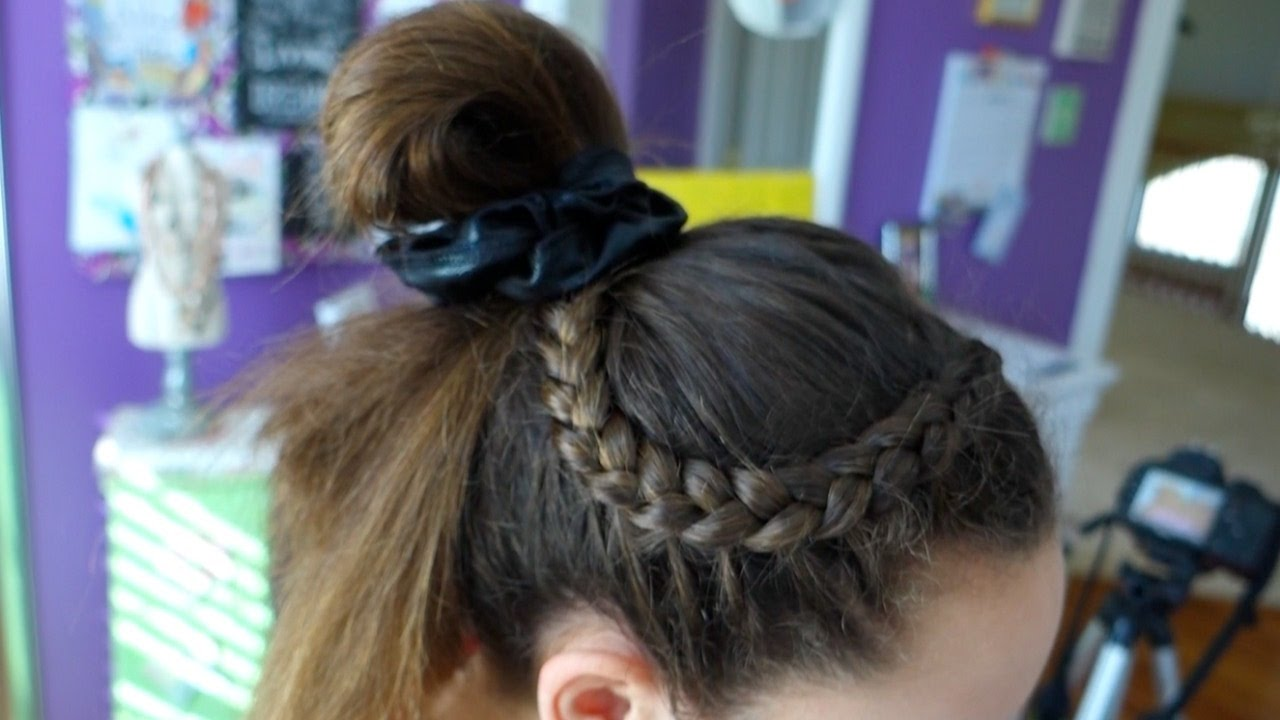 7 hairstyles for gymnastics youtube 4 hairstyle ideas for ...