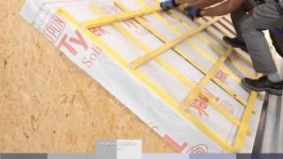 видео Гидроизоляция под металлочерепицу — укладка и монтаж гидроизоляционной пленки