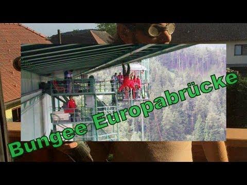 2,5 Crazy Bungee Jump Europabrücke Austria under the bridge