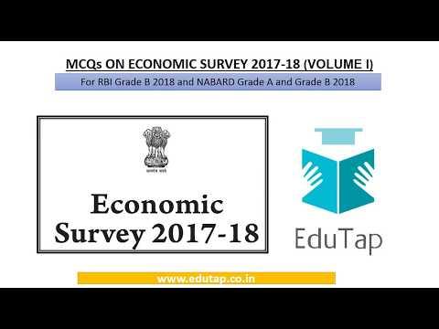 Economic Survey 2017-18 Volume 1 - Discussion for MCQ Set 1-20