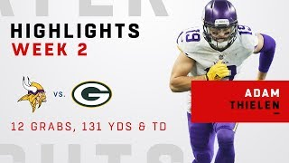 Adam Thielen's 12 Catches, 131 Yards & TD vs. Green Bay!