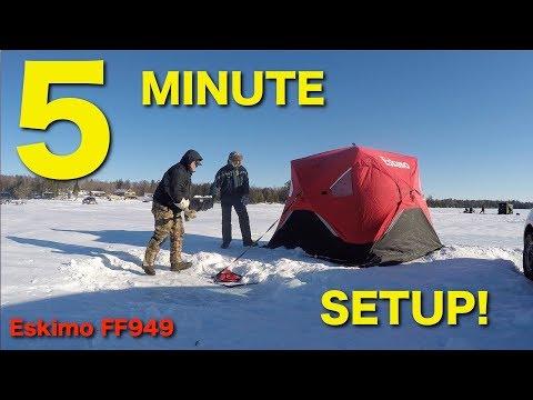 Eskimo FatFish 949 Ice Fishing Shelter - Easy SetUp!!