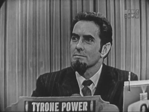 What's My Line?  Tyrone Power; Wally Cox panel Mar 27, 1955