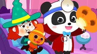 Baby Witch Sick Song | Doctor Cartoon | Nursery Rhymes | Kids Songs | Kids Cartoon | BabyBus