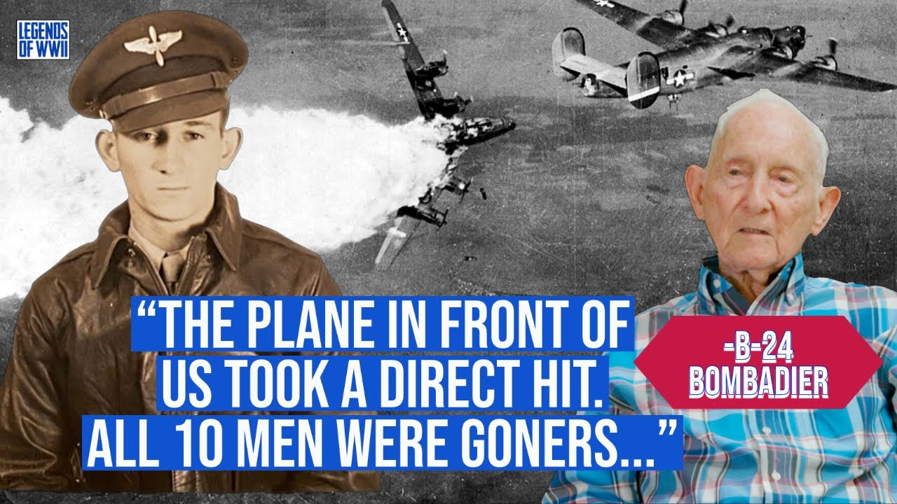 WW2 Veteran and POW Describes Seeing Planes BLOWN UP in Front of Him