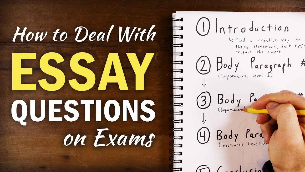 rules for answering essay questions on exams
