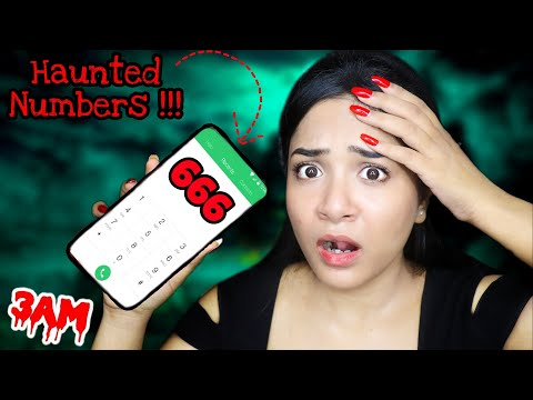 Calling *HAUNTED* Numbers You Should Never Call At 3 AM Challenge | Nil U0026 Situ Vlogs