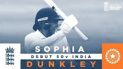 Sophia Dunkley Hits 50 In Maiden Test Test and ODI Highlights England Cricket 2021
