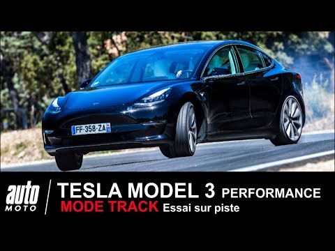 TESLA MODEL 3 Performance 460 ch MODE TRACK ESSAI Auto-Moto