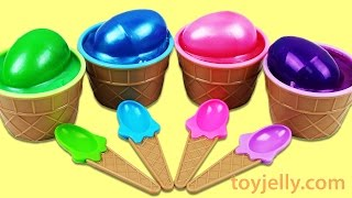 Learn Colors Slime Surprise Toys Play Doh Peppa Pig Elephant Molds Fun and Creative for Kids