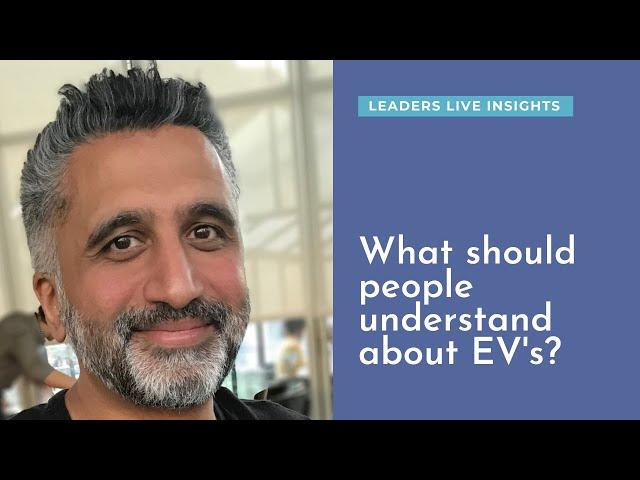 What should people understand about EV technology? Rajesh Darji, Bosch | Leaders LIVE Insights