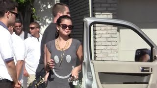 Selena Gomez Questioned About Boyfriend Justin Bieber's Fight With Photographer [2012]