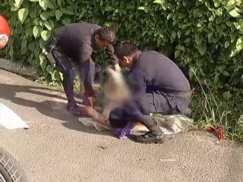Noticias 4Visión captó en exclusiva el rescate de un joven moribundo en Lourdes