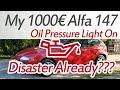 My 1000€ Alfa 147 Oil Pressure Light On, Twin Spark Oil Pressure Sensor Location, Replacement