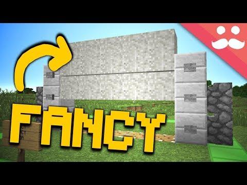 The FANCIEST Piston Door In Minecraft!