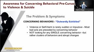Strategos International  Awareness for Concerning Behavioral Pre Cursors