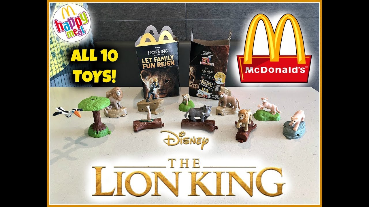 THE LION KING Movie MCDONALDS Happy Meal Toys! July 2019! All 10 Toys!