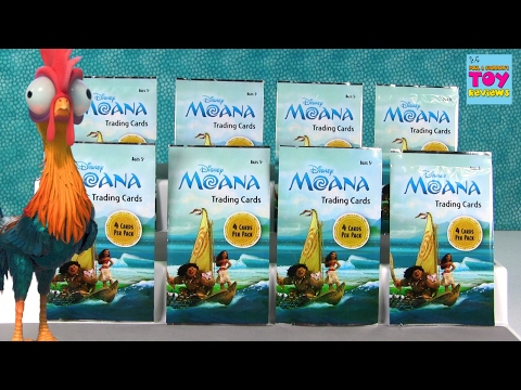 Disney Moana Collector Trading Cards Movie Blind Bag Opening | PSToyReviews