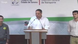 Rueda de prensa - Dirección General de Transporte Sonora