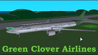 ROBLOX | Green Clover Airlines Boeing 777-300 Flight