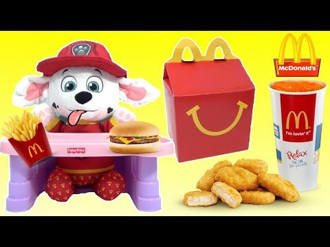 Thumbnail: Baby Skye Marshall Chase PAW PATROL, Mr. Doh Eats McDonald's Happy Meal and M&M's