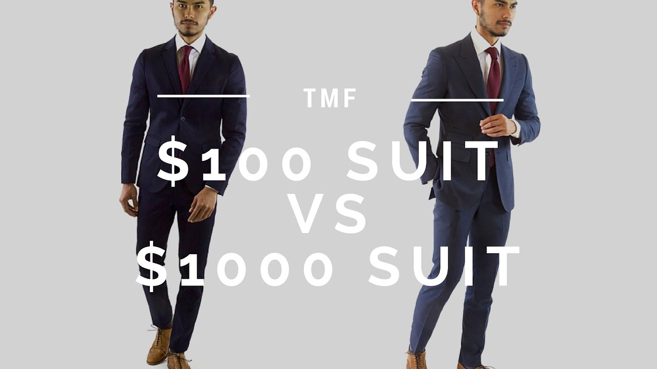$100 Suit vs $1000 Suit - YouTube