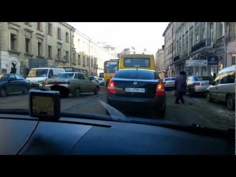 Driving In Lviv/Lvov In Ukraine