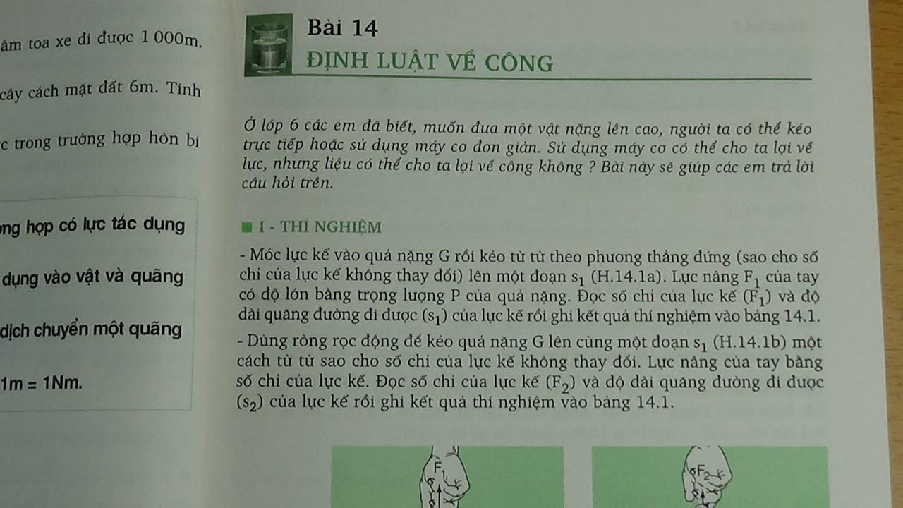 [ Vật lí 8 ] Bài 14 Định luật về công (SGK)
