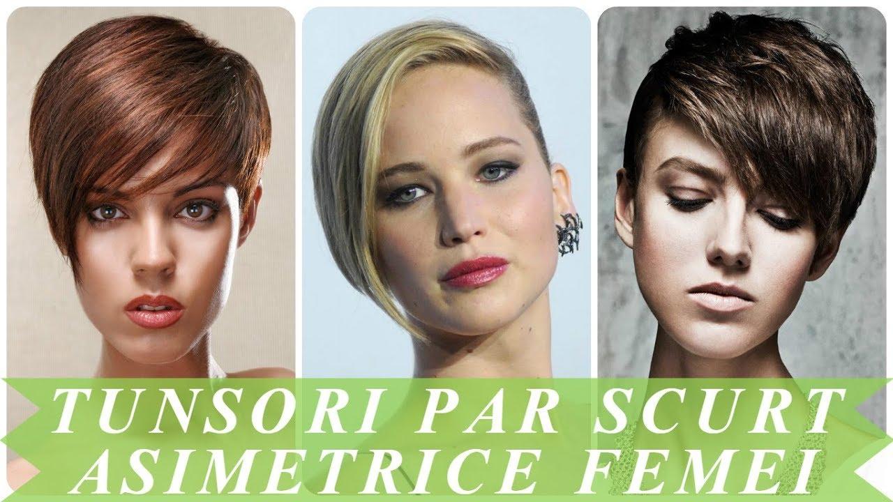 Modele De Tunsori Par Scurt Asimetrice Femei 2018 Youtube