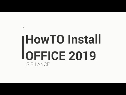 Installing Office 2019 - YouTube