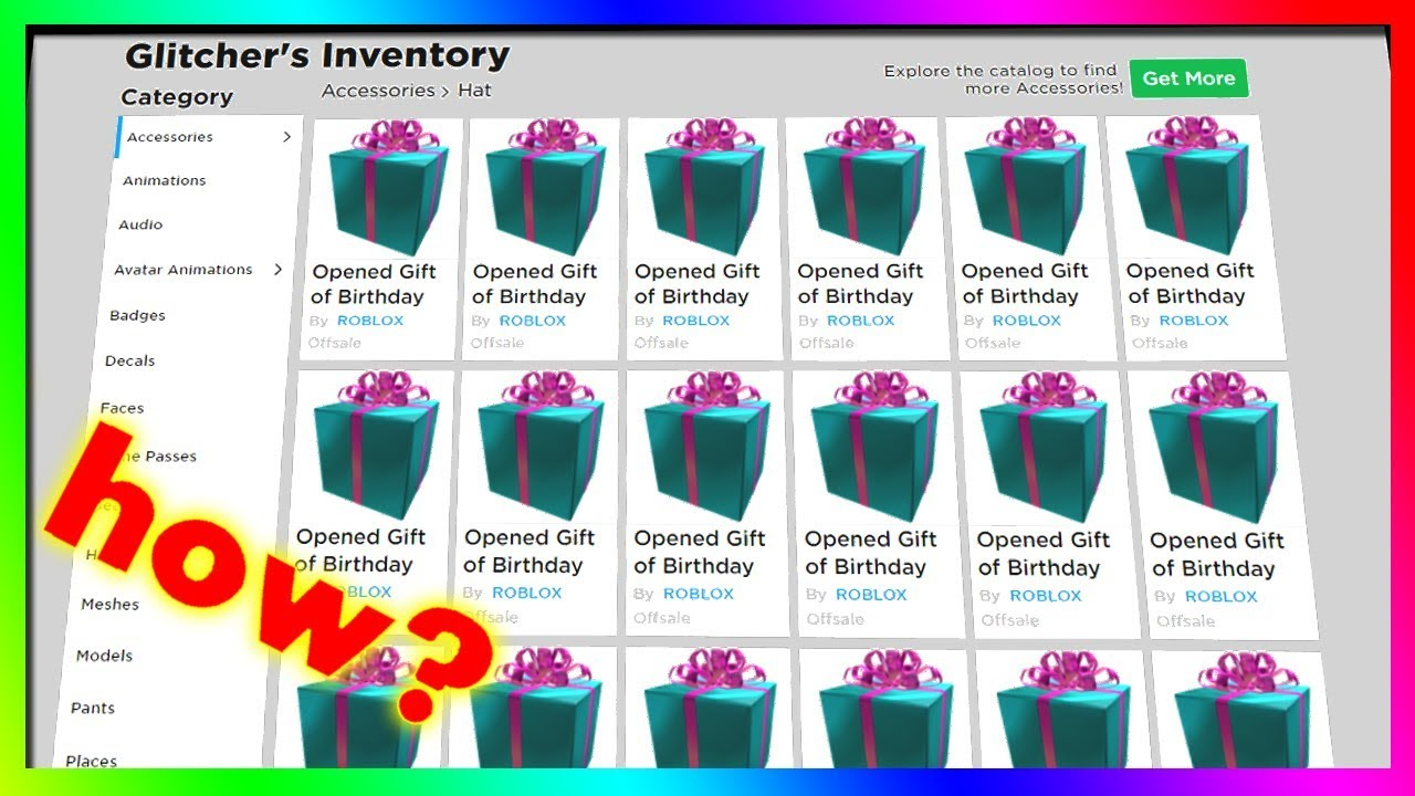 how did people get tons of FREE gifts from roblox? YouTube