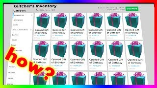 how did people get tons of FREE gifts from roblox?