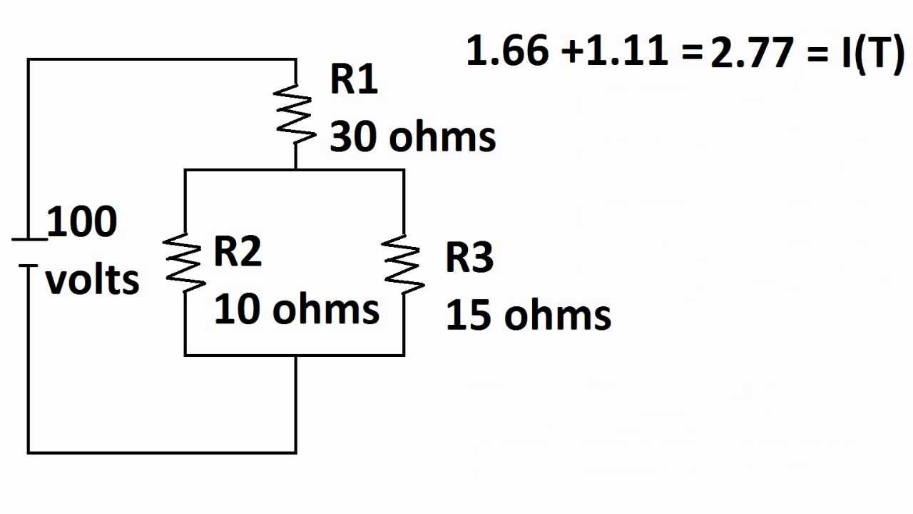 voltage drop in parallel circuit