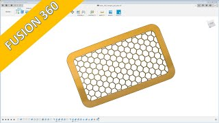 "Hexagon Grill - ""easy"" - Fusion 360 Training -Part Design"