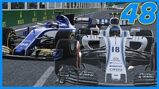IT SPAWNED HIM IN THE MIDDLE OF THE TRACK! |8/20| F1 2017 Sauber Career Mode S3. Episode 48