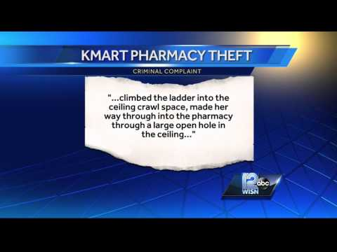 Police: Woman crawls through ceiling to rob Kmart pharmacy