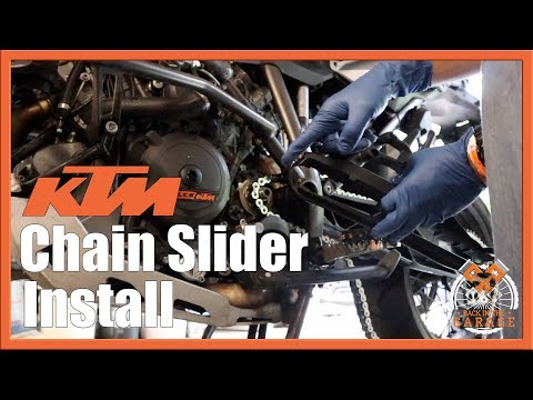 Chain Guide Slider Install on KTM Super Adventure 1290 1190 1090 | Back in the Garage