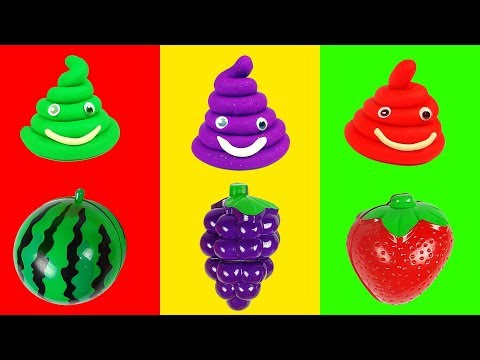 Thumbnail: Learn Colors Number with Play Doh Molding Clay Fruits Cutting Toys for Kids