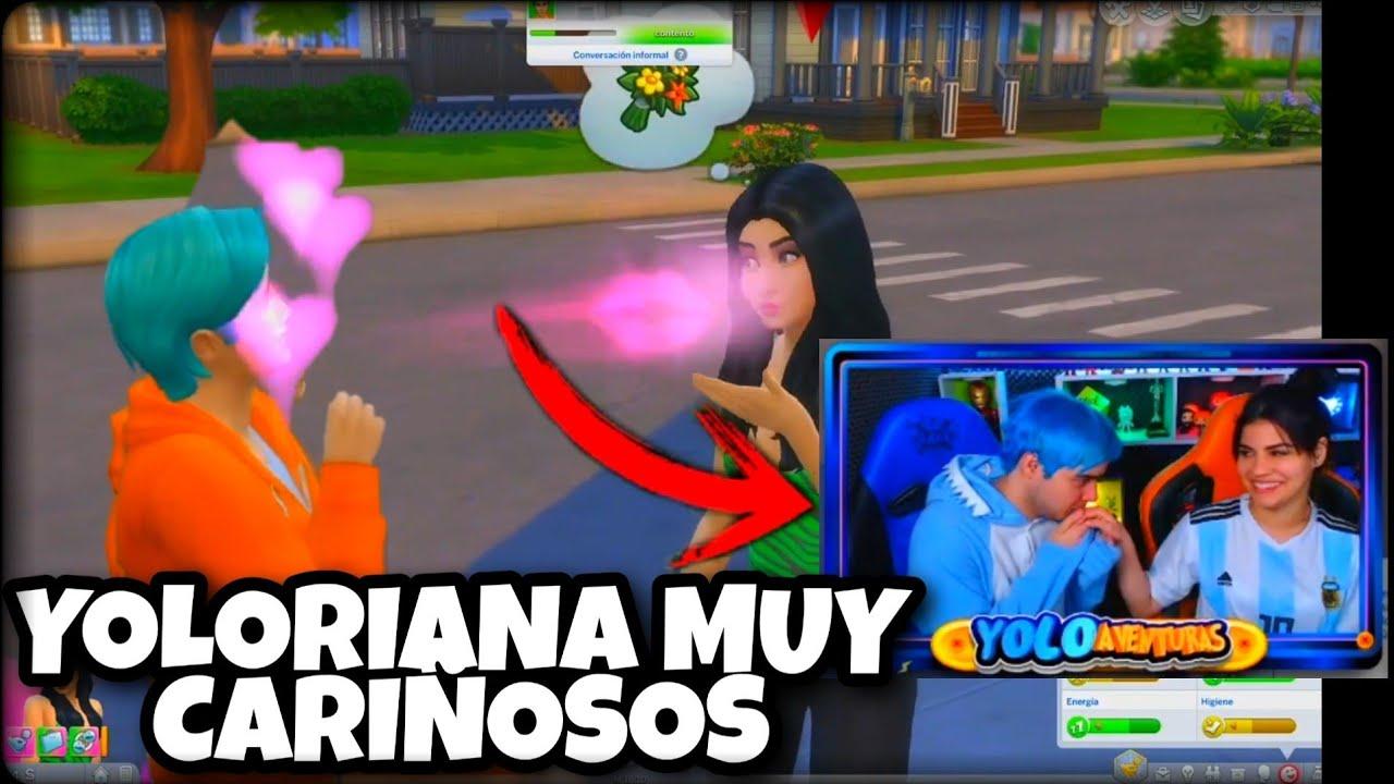 YOLO BESA A MARIANA EN TWITCH *yoloriana en los sims* - Yolo Aventuras