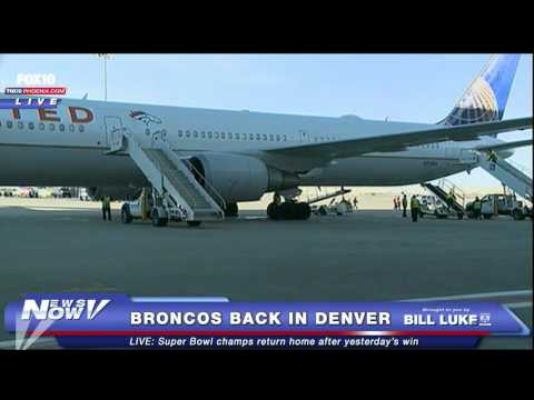 Denver Broncos Return To Colorado After Super Bowl 50 Win
