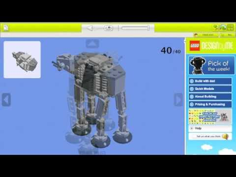 Mini Star Wars At At Building Instructions 101 Lego Bricks Youtube