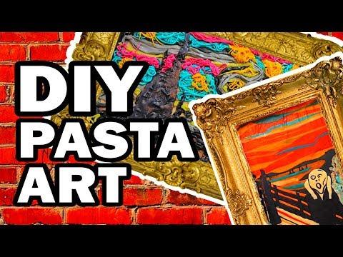 🍝 DIY Pasta Art - Man Vs Corinne Vs Pasta