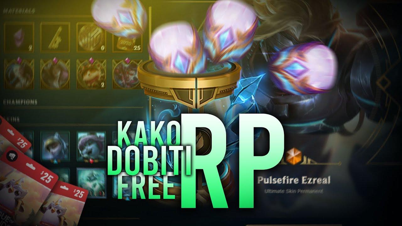 KAKO DOBITI FREE RP?! - League of Legends