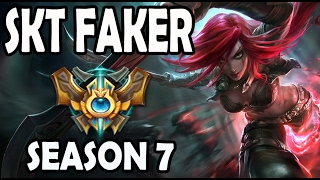 FAKER plays KATARINA vs RYZE Ranked Korea Season 7
