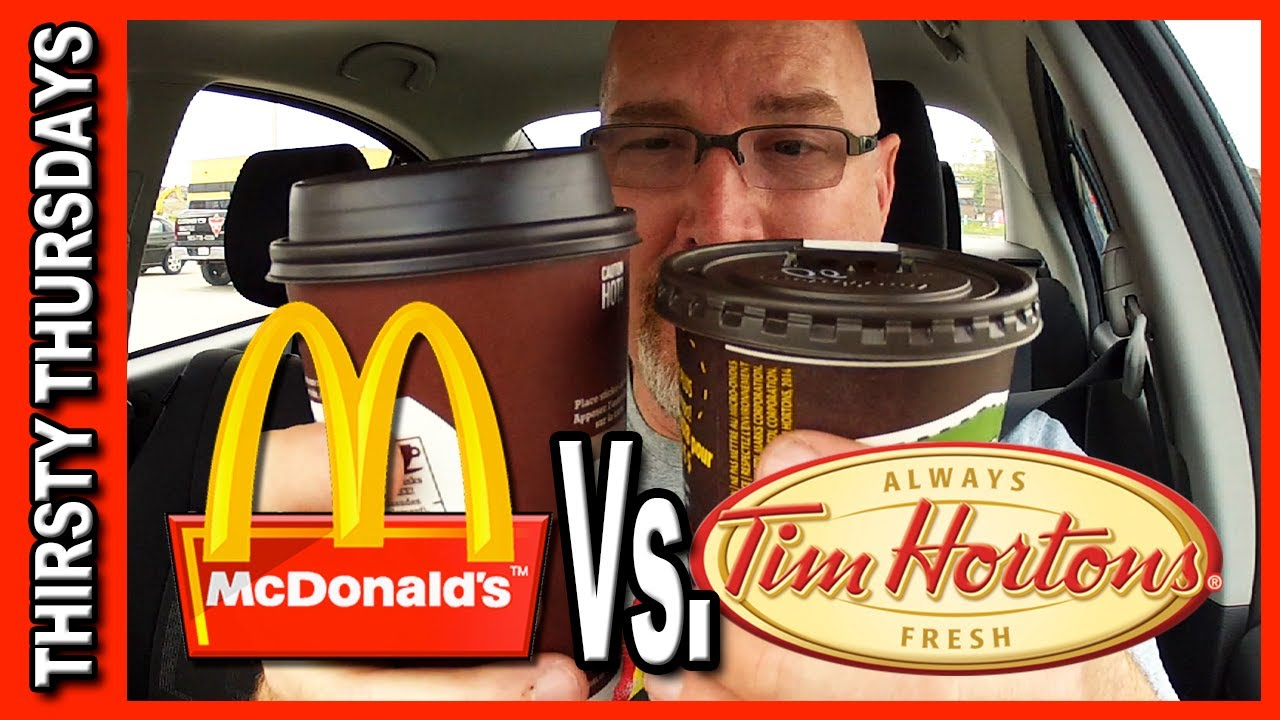 McDonald's Coffee ♥ Vs ♥ Tim Hortons Coffee Plus Drive Through Test