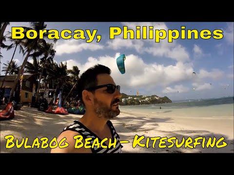 Philippines, Boracay: Kite Surfing on Bulabog Beach