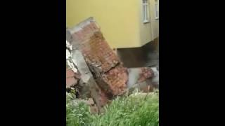 Sinop'ta Istinat Duvarı Böyle çöktü